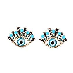 Punk Stud Acrylic Crystal Earrings for Women