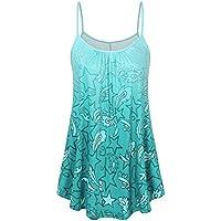 Tank Tops Women chaofanjiancai Camisole Plus Size Vest Plain Tops Summer Blouse T-Shirts