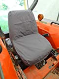 Durafit Seat Covers, KU09 C8 Kubota Seat Covers for Tractor B2320,B2620,B2920,B3200,B7410,B7510,B7610,B7800,BX1850,BX2350,BX24,BX25,M5640,M7040 in Gray Waterproof Seat Cover.