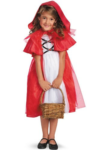 Storybook Costumes For Girls (Secret Fairytale Storybook Red Riding Hood Girls Costume,)