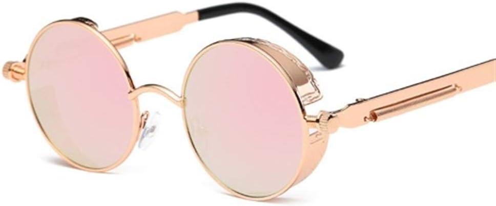 LAOBIAOZI Metal Steampunk Sunglasses Men Women Fashion Round Glasses Brand Design Vintage Sunglasses UV400 Eyewear