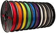 MakerBot MP06572 Large 10-Pack PLA Filament, Spool, 1.75 millimeters Diameter (Pack of 10)