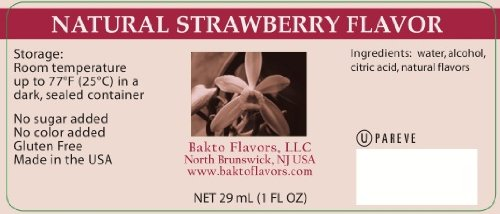Bakto Flavors Natural Strawberry Flavor (1FL OZ) Pack of 3 by Bakto Flavors (Image #3)