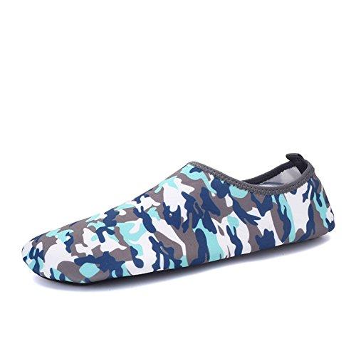 Uomini Donne E Bambini Scarpe Estraibili Scarpe Sportive Outdoor Sneaker Quick-dry Buco Ventilazione Kpu Suola 2ablue