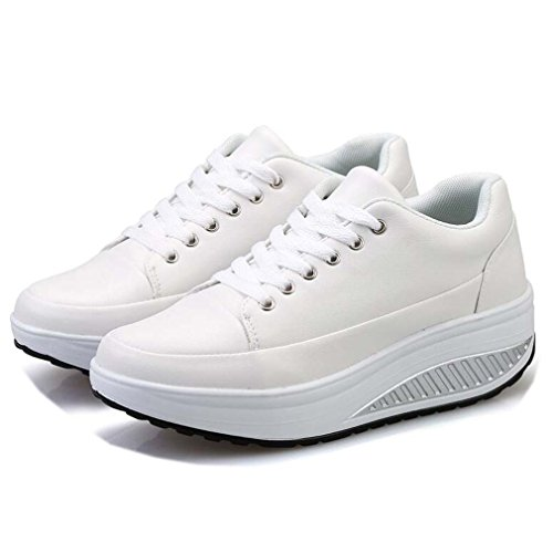 Blanc Solshine Chaussures Femme Solshine Compensées Chaussures xqYqZ4wz