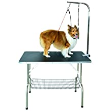 SHELANDY Stainless steel pet dog grooming talbe with arm and two loops (SMALL 80*50cm)