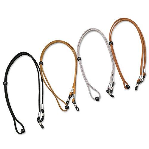 Kalevel Leather Eyeglass Holder Eyeglass Chain Eyeglass Strap Retainer Lanyard (4pcs) by Kalevel