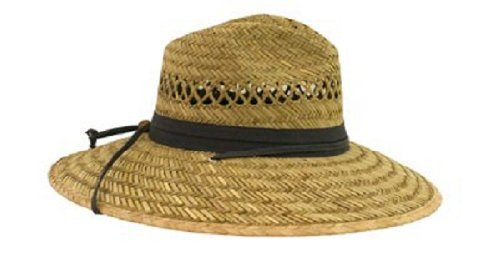 Dorfman Pacific Dorfman Big Brim Rush Straw Hat Adjustabl...