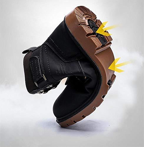 Imperméable Hiver Mode Kemosen Mixte Chaussures Bottes Courtes Fourrées Chaude Doublure Avec Bottines Hommes Noir 2 Adulte Boots 04X4R