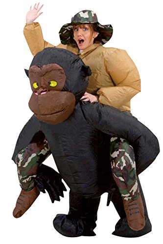 Inflatable Gorilla Christmas Party Costume Funny Doll Dress Up Cosplay Blow Up (Blow Up Doll Halloween Costume)