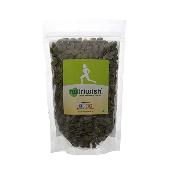 Nutriwish Premium Raw Pumpkin Seeds Without Shell, 200g