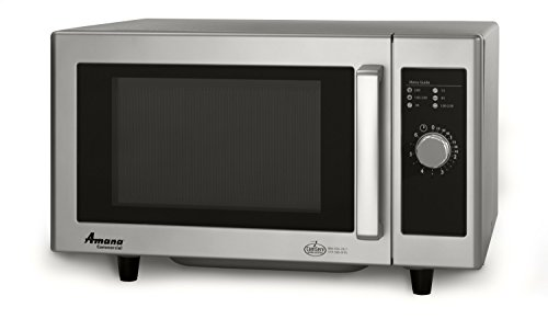 (Amana RMS10DS Light-Duty Commercial Microwave Oven with Dial Timer, Stainless Steel, 120-Volts, 1000-Watts)