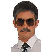 Forum Novelties Men's Novelty Gentleman's Mustache, Gray, One Size