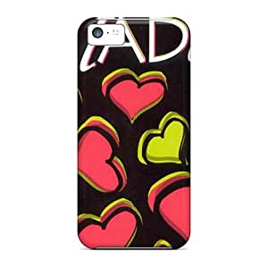 Best Hard Phone Cover For Iphone 5c (IWz8184dJOu) Unique Design Colorful Green Day Image