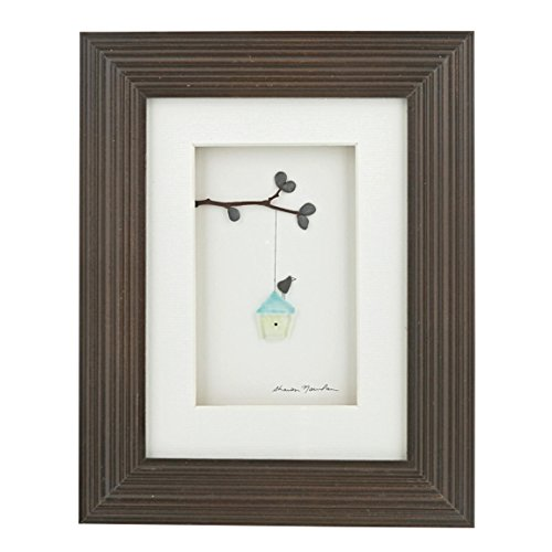- Sharon Nowlan Pebble Framed Art by Demdaco - HAPPY PLACE
