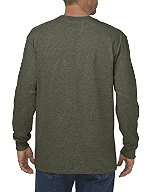 Men's Big & Tall Long-Sleeve Heavyweight Crew-Neck T-Shirt