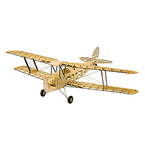 Goolsky Dancing Wings Hobby S1901 Balsa Wood RC Airplane Tiger Moth Remote Control Biplane Unassembled KIT Version DIY Flying Model
