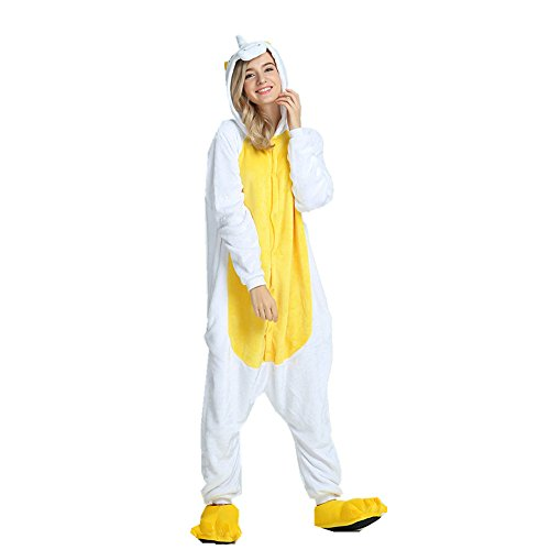 le con Unisex Costume Pigiama ali indumenti Flanella Animale Adulto per Unicorno Rainbow Giallo notte Fox da qRwSISC