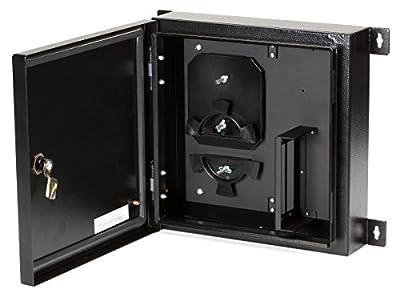Black Box NEMA 4 Rated Fiber Optic Wallmount Enclosure, 2 Adapter Panels