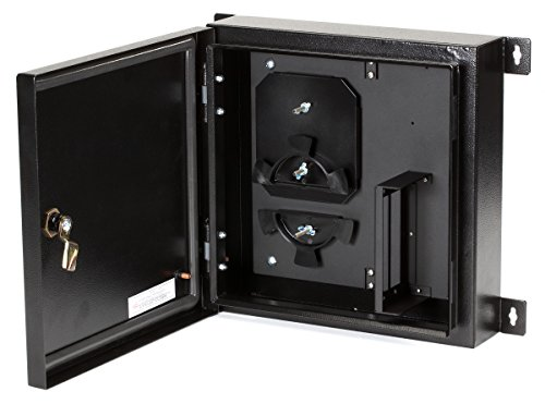 Fiber Wall Mount Enclosure (Black Box NEMA 4 Rated Fiber Optic Wallmount Enclosure, 2 Adapter Panels)