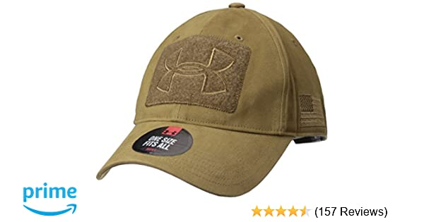 961a0f200d02d Amazon.com  Under Armour Men s Tactical Patch Cap, Coyote Brown  (220) Coyote Brown, One Size  Sports   Outdoors