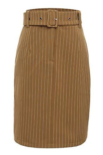 kefirlily Mujer Faldas Corta Cintura Alta Elegantes A Rayas ...