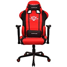 HAPPYGAME Fabric 350lbs Gaming Chair seat,2D Height Adjustable Armrest Computer Chair, Cheap Video Gaming Chair and Seat Height Adjustment Chair(Red) OS7206