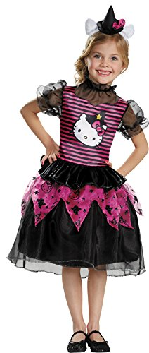 UHC Girl's Hello Kitty Witch Classic Outfit Toddlar Child Halloween Costume, Toddler M (3T-4T) - Hello Kitty Witch Classic Costumes