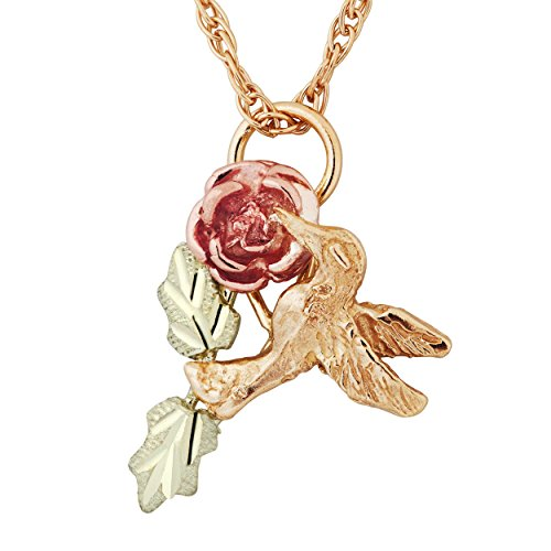 Black Hills Gold Hummingbird Pendant ()