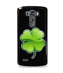 Four Leaf Clover Black Hardshell Case for LG G3