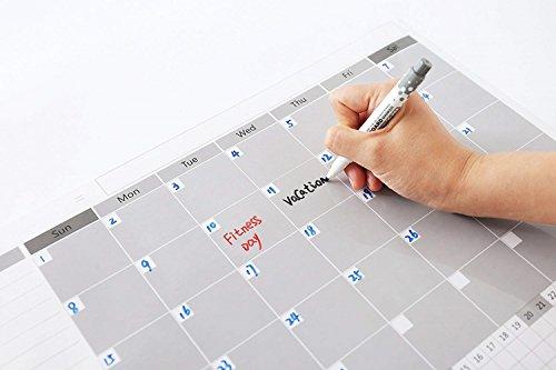 Magnetic Fridge Calendar Dry Erase, 2018 White Board Calendar Planner for Kitchen Refrigerator, 17'' x 12'' Large Monthly Erasable Whiteboard Calendar Set by F.G.Y (Image #3)