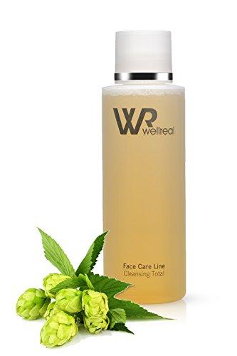 WELLREAL - Reinigungskomplex - 3 in 1 - schonende, tiefe und gründliche Reinigung, Pflege und Tonisierung - für Gesicht, Hals und Dekolleté - tägliche Anwendung für alle Hauttypen - antibakterielle Wirkung - Cleansing Total - 200ml - Face Care Line