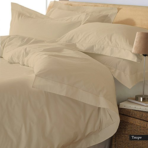 Reliable Bedding Ultra Soft Luxury Solid Duvet Cover, 500 Thread Count, 100% Organic Cotton Bedding Cover !!! (Queen/Taupe)