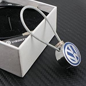 1pcs acero alambre cuerda llavero FIT para Volkswagen coche ...
