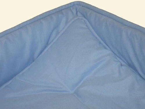 SheetWorld Cradle set - Solid Baby Blue Cradle Set - Made In USA
