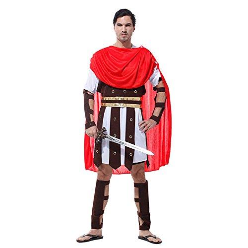 HDE Men's Roman Gladiator Halloween Costume Adult Sized Spartan Hercules Warrior