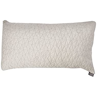 Improved Design - Adjustable Shredded Memory Foam Pillow with Viscose Rayon Cover derived from Bamboo - Removable Case - Coop Home Goods - Made in USA - King
