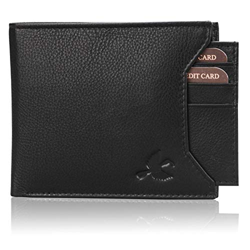 Hornbull Rigohill Black Mens Leather Wallet – Premium Quality Leather Wallet for Mens & RFID Blocking Genuine Leather Mens Wallet