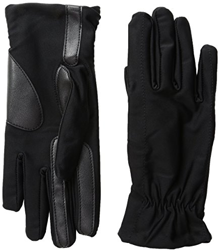 Isotoner Women's Spandex smarTouch Gloves, Black, Large/X-Large