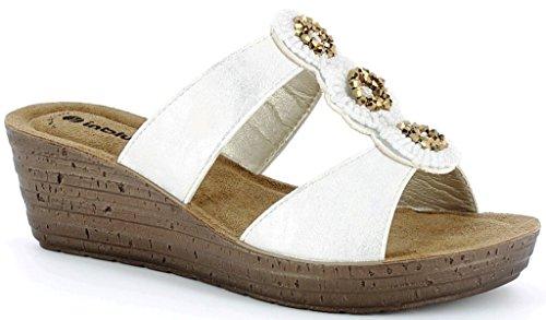 INBLU , Damen Sandalen weiß Bianco 39