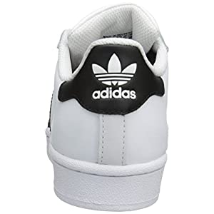 adidas Originals Superstar J Casual Low-Cut Basketball Sneaker (Big Kid),White/Black/White,4.5 M US Big Kid