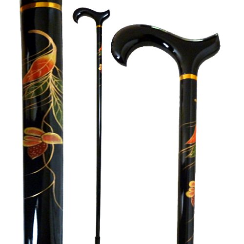 Vista International Hand Painted Stick/Clematis Flower Walking Poles, Multicolor