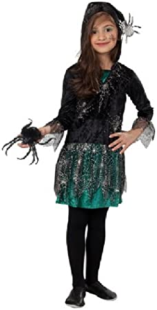 Halloween disfraz araña vestido con capucha para niña: Amazon.es ...