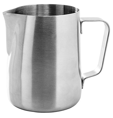 Ozeri OZMF2 Deluxe Stainless Steel Milk Frother and 12-Ounce Frothing Pitcher with Extra Whisk Attachment, Silver by Ozeri (Image #2)