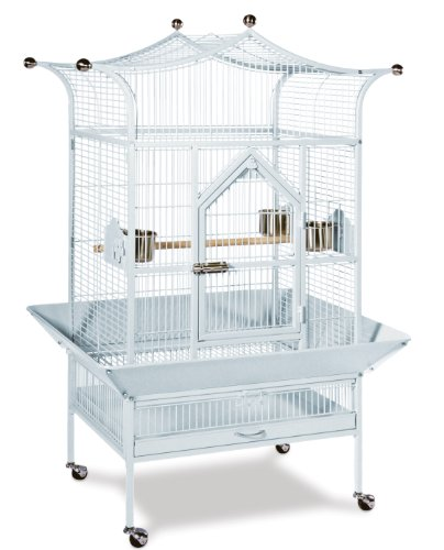 Prevue Pet Products Medium Royalty Bird Cage 3172W, Pewter Hammertone, My Pet Supplies