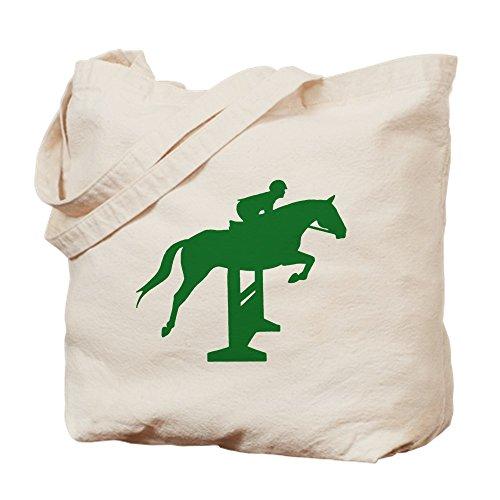 Cafepress–Hunter jumper recinzione verde–Borsa di tela naturale, tessuto in iuta