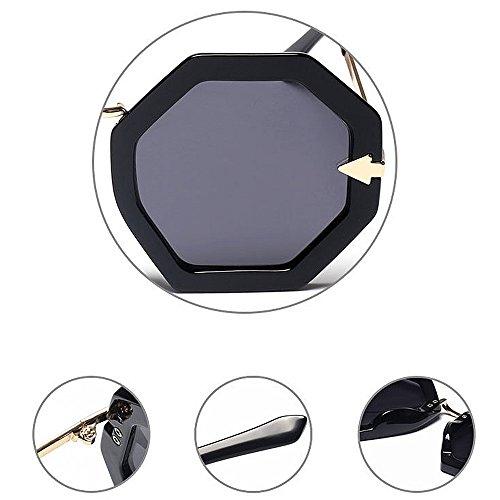 Unisex Playa Forma Color Lente Protección Negro al Azul Polígono Viaje Lente Color Mujeres UV Sol Pequeño para de de de Libre Aire Gafas Conducción Hombres qrBrwHI