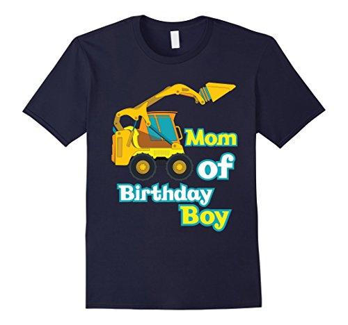 Mens Mom of Birthday Boy Construction Party Theme Women T-Shirt Small Navy