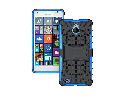 YHUISEN Lumia 850 caso, patrón de neumáticos de doble capa de armadura amortiguación de la caja de protección con Kickstand para Microsoft Lumia 850 ( Color : Black ) Blue