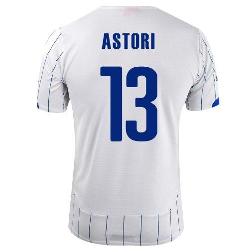 額信念富PUMA ASTORI #13 ITALY AWAY JERSEY WORLD CUP 2014/サッカーユニフォーム イタリア代表 レプリカ?アウェイ用 ワールドカップ意2014 背番号13 アストーリ